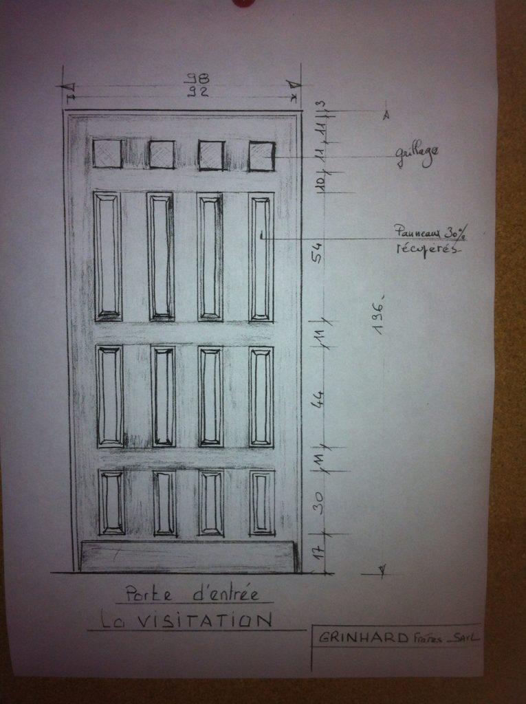 Porte pour l'immeuble de la Visitation de Rennes