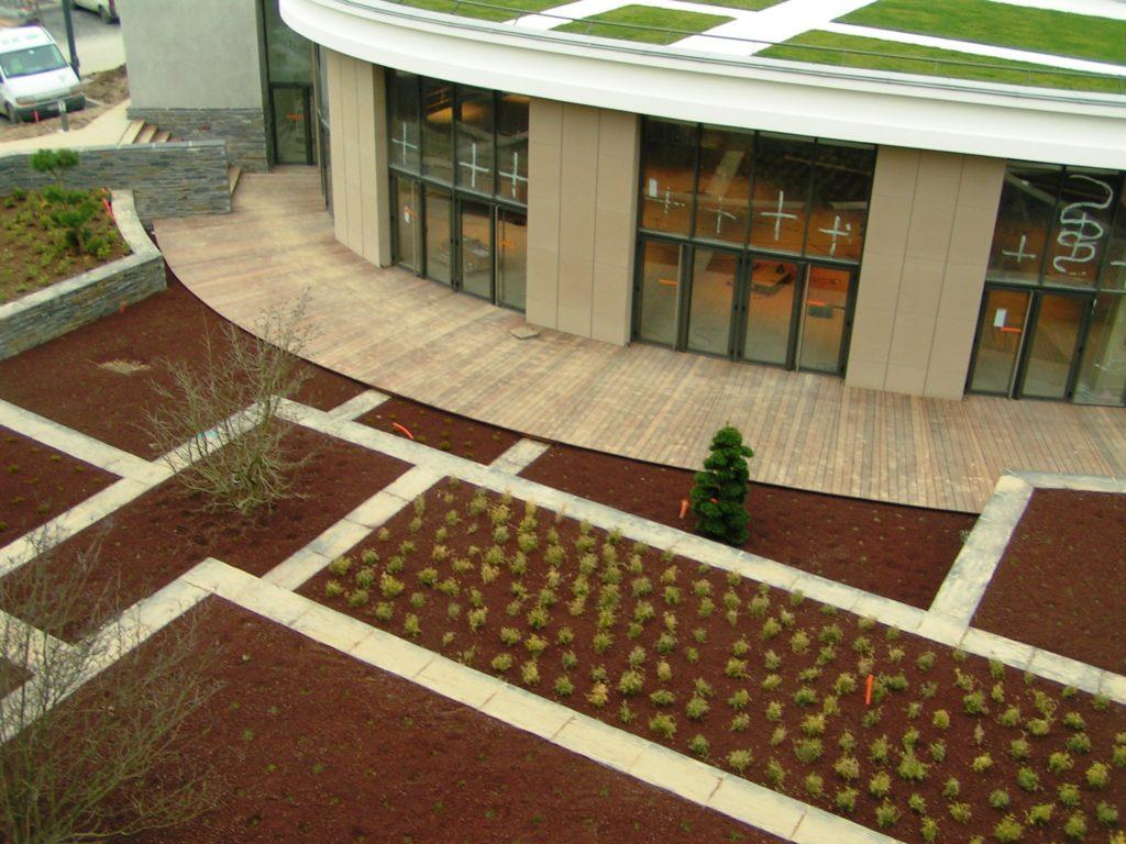 Pose d'une terrasse en bois à SAMSIC